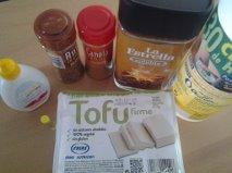 ingredientes de tofu de cafe