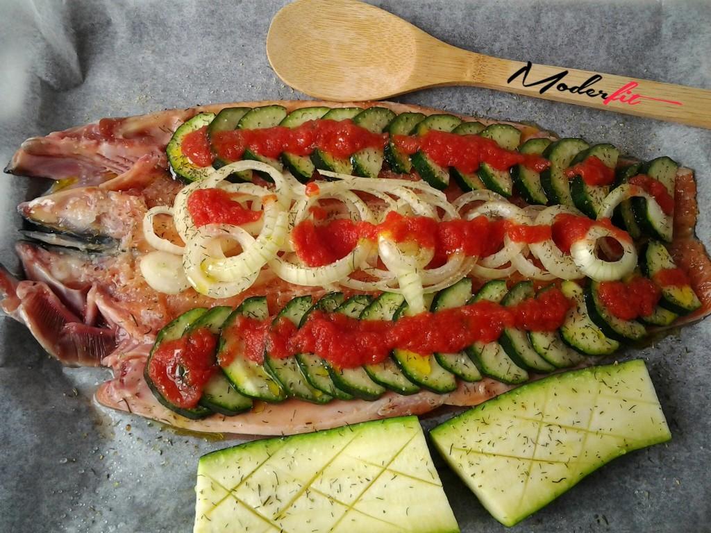 trucha con verduras 3